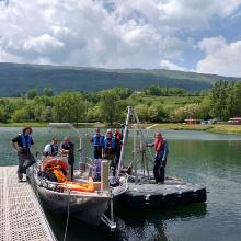 Experimentelle Untersuchung der Sedimentstabilität in Stauräumen an der Rhône