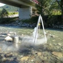 Kolmationserscheinungen in einer Restwasserstrecke