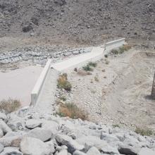 Bewertung von Sedimenttransportraten in den Wadis eines Golfstaates