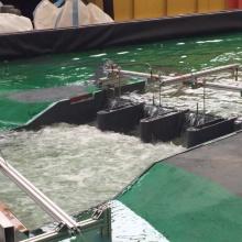 Wasserbauliche Modellversuche zur Steuerung eines Hochwasserrückhaltebeckens im Remstal