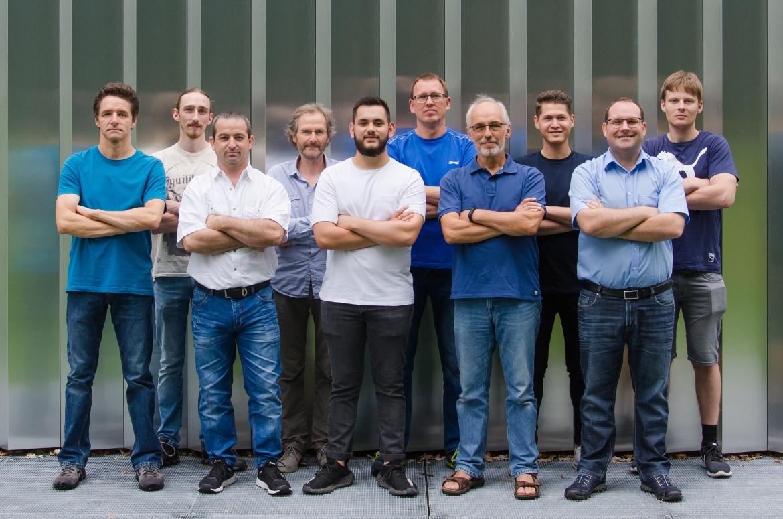 Gruppenbilder Team Versuchsanstalt Wasserbau